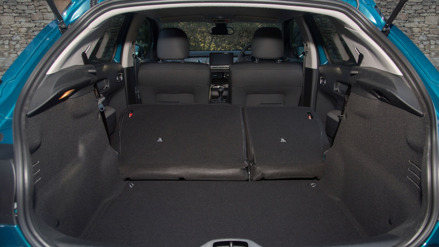 Citroen C4 Cactus seats folded