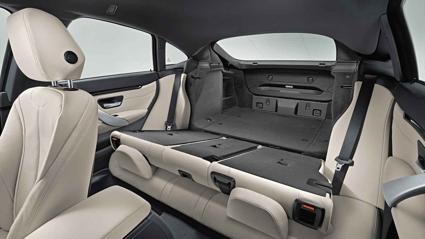 BMW 4 Series Gran Coupe rear seats down